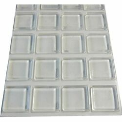 Rubber Bumpers Self Adhesive Large - 20 Pack Pads For Cutting Board Feet 1 Inch