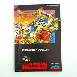 Breath Of Fire Ii Manual   Very Good Cond   Pal   Manual Only   Tracked Postage