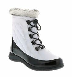 Totes White Lisa Quilted Waterproof Boots Size 7.5M NWOT $36.00