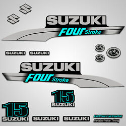 Outboard Engine Graphics Kit Sticker Decal For Suzuki 15 Hp Teal