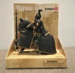 Schleich Ritter Black Knight on Horseback #70032 New in Box Free Shipping $18.00