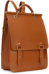 ECOSUSI Laptop Backpack Vintage for Women PU Leather Rucksack for Laptop 14 inch $65.99