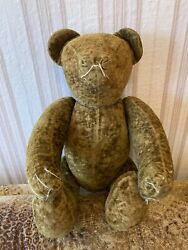 Antique Toy Bear Made Of Sawdust