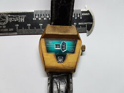 Tenor Dorly 21 Jewel Automatic Jump Hour Date Vintage Watch Runs And Stops