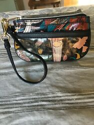 SAK ROOTS BLACK WRISTLET WITH WHIMSICAL DESIGN NWOT FITS iPhone 6scckey ring