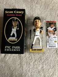 Sean Casey Bobble Head Pnc Park Exclusive 2006 Pittsburgh Pirates With Ticket
