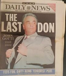 Ny Daily News John Gotti The Last Don Special 16-page Section June 11th 2002