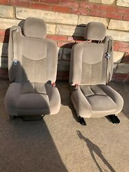 2003 - 2006 Chevy Tahoe Avalanche Left And Right Power Front Seats Yukon Tan
