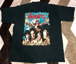 Vintage 90s The Doors Light My Fire T-shirt Double Sided Rare