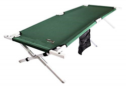Byer Of Maine Military Cot Extra Large Holds 375lbs Reinforced Aluminum/steel...
