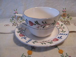 Avondale By Nikko Cup And Saucer Set Dishware China Provincial Designs Floral Vgc