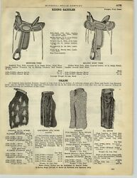 1928 Paper Ad Angora With Wings Spotted Chaps Cheyenne Leg Oil Grain Saddle