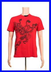 New Versace Red T-shirt With Three-headed Dragon Size 3xl