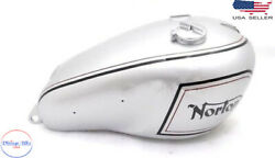 Norton Dominator Model 7 Silver Painted Fuel Petrol Tank With Capfits For