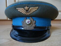 = Soviet Pilot Officer Visor Cap With Woolen Top Marked 1950and039s =