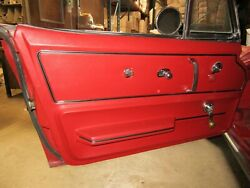 67 Corvette Red Deluxe Door Panels Pair Al Knoch Less Than 500 Miles Awesome
