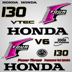 Outboard Engine Graphics Kit Sticker Decal For Honda 130 Hp Pink
