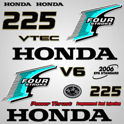 Outboard Engine Graphics Kit Sticker Decal For Honda 225 Hp Teal
