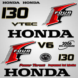 Outboard Engine Graphics Kit Sticker Decal For Honda 130 Hp Red