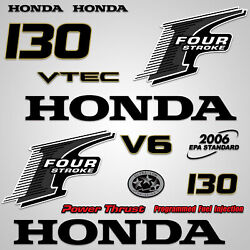 Outboard Engine Graphics Kit Sticker Decal For Honda 130 Hp Black