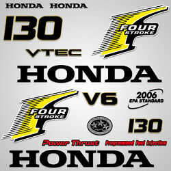 Outboard Engine Graphics Kit Sticker Decal For Honda 130 Hp Yellow