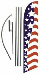 American Glory Advertising Feather Banner Swooper Flag Sign With 15 Foot Flag...