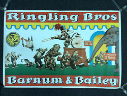 """Ringling Bros And Barnum And Bailey Monkey Circus Poster 27"""" X 41"""""""