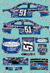 2015 1 64 HO PEEL amp; STICK DECALS #51 JUSTIN ALLGAIER AUTO OWNERS INSURANCE