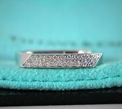 2400 Co Frank Gehry Torque 18k White Gold Diamond Wedding Band Ring