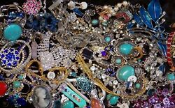 Jewelry Vintage-Modern Huge  Lot Craft Junk Wearable Box 3 FULL POUNDS