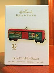 Hallmark 2009 Lionel Train Holiday Boxcar New Never Removed From Box Mint