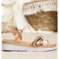 Small Swan Comfortable Sandals With Cubic Zirconia yellow