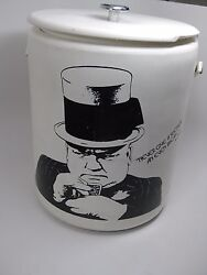 Rare Vintage Large 15 W.c. Fields Ice House Chest Beer Cooler - Hamilton Skotch