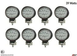 8x Hq 39w 12-24v Led 5.7'' Oval Led Work Lights Lamp Lorry Tractor Offroad 6000k