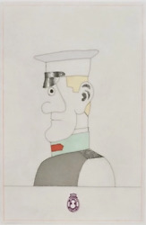 Saul Steinberg Gogol I From Gemini Framed In Excellent Condition