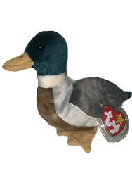 Jake The Duck Beanie Baby With Original Tag And Tag Protector