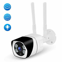 Wifi Outdoor Security Camera 1080p 110anddegwide Angle Two-way Audio Motion Detect