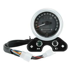 Motorcycle Instruments Retro Led Speedometer Fuel Gauge Fits For Cg125