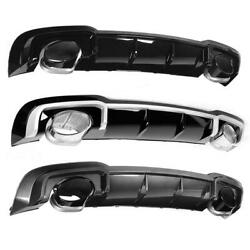 For Rs3 Rear Bumper Diffuser Lip With For Abt Exhaust Tip Fit For A3/s3 8v 17-20