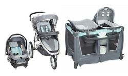 Baby Trend Jogging Stroller Car Seat Travel System Combo With Playard Combo New