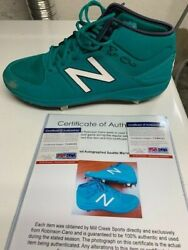 Robinson Cano Signed Game Used Cleats. Only Left Shoe. Seattle Mariners Psa Dna
