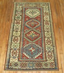 Antique Caucasian Kazak Shirvan Moghan Rug Size 2and0399and039and039x4and03911and039and039