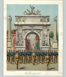1905 Print American History United States The Dewy Arch Solders Uniforms Foldout