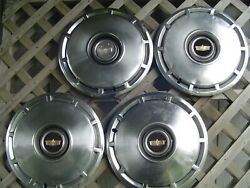 1975 1976 Chevy Chevrolet Impala Caprice Hubcaps Wheel Cover Police Vintage