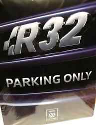 Vw Golf Mk4 R32 Parking Only Metal Sign Grill Style Plaque Driveway Genuine Oe