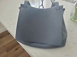 Designer - The Row Chrome Blue Sidekick Two Bag $1,260.00