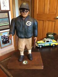 Beautiful Artist Crafted Vince Lombardi Figurine Green Bay Packers Coach Vintage