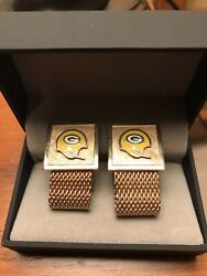 Vince Lombardi Era ,vintage 1960s Set Of Green Bay Packers Cuff Links,stunning
