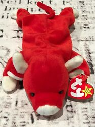 Ty Beanie Babies Original Snort The Red Bull May 15, 1995 Retired Mint Collect