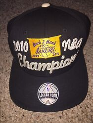 Vintage 2010 Adidas Nba Finals Los Angeles Fitted Flexfit Hat One Size Fits Most